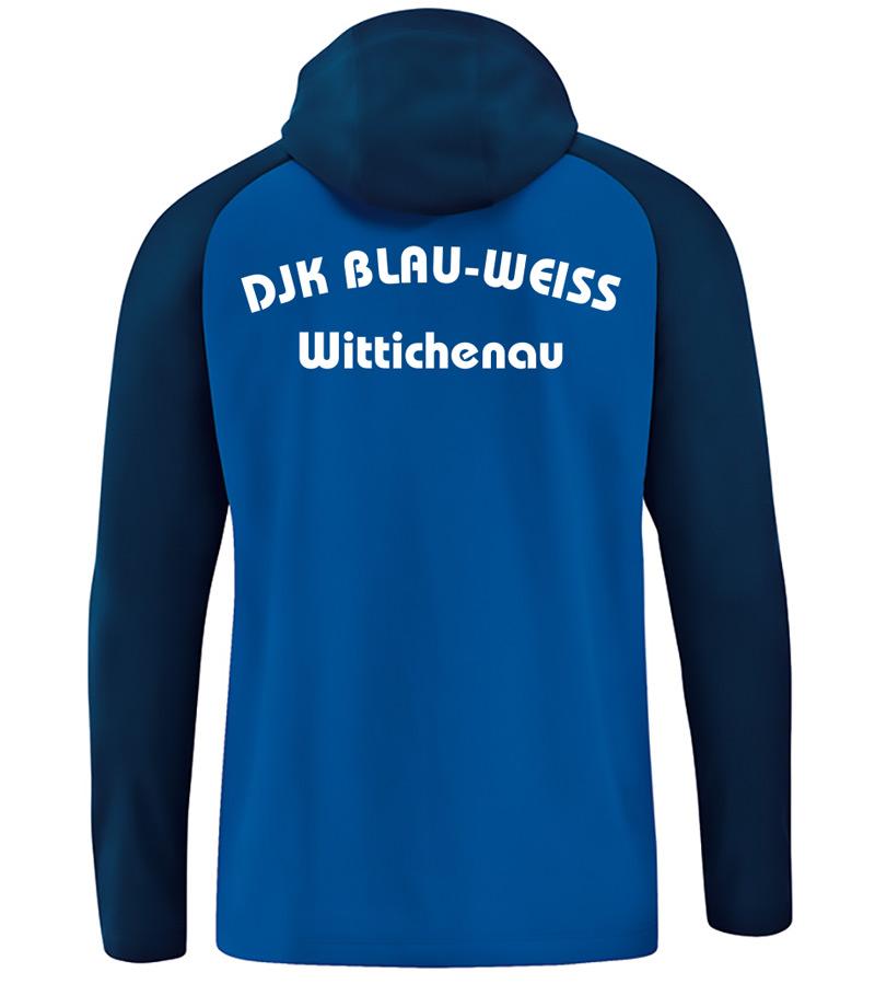 JAKO Kapuzenjacke Competition 2.0 Damen DJK Blau-Weiß Wittichenau